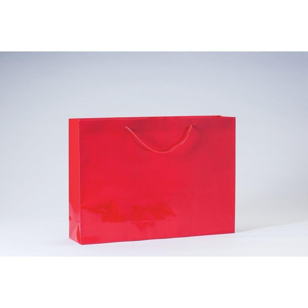 Sac Luxe pelliculé rouge L46 x P10 x H33cm par 12 (photo)
