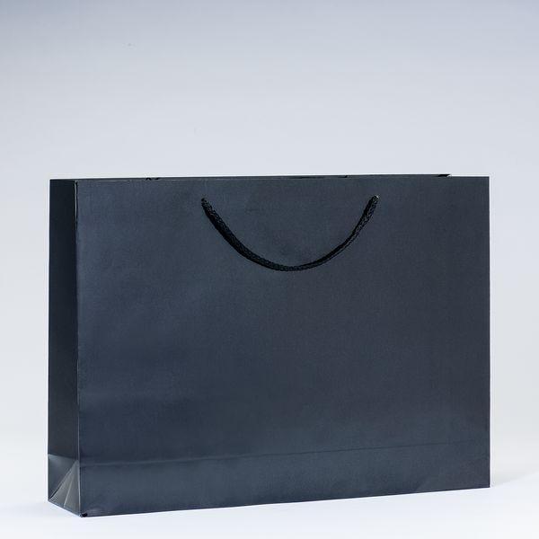 Sac Luxe pelliculé noir L46 x P10 x H33cm par 12 (photo)