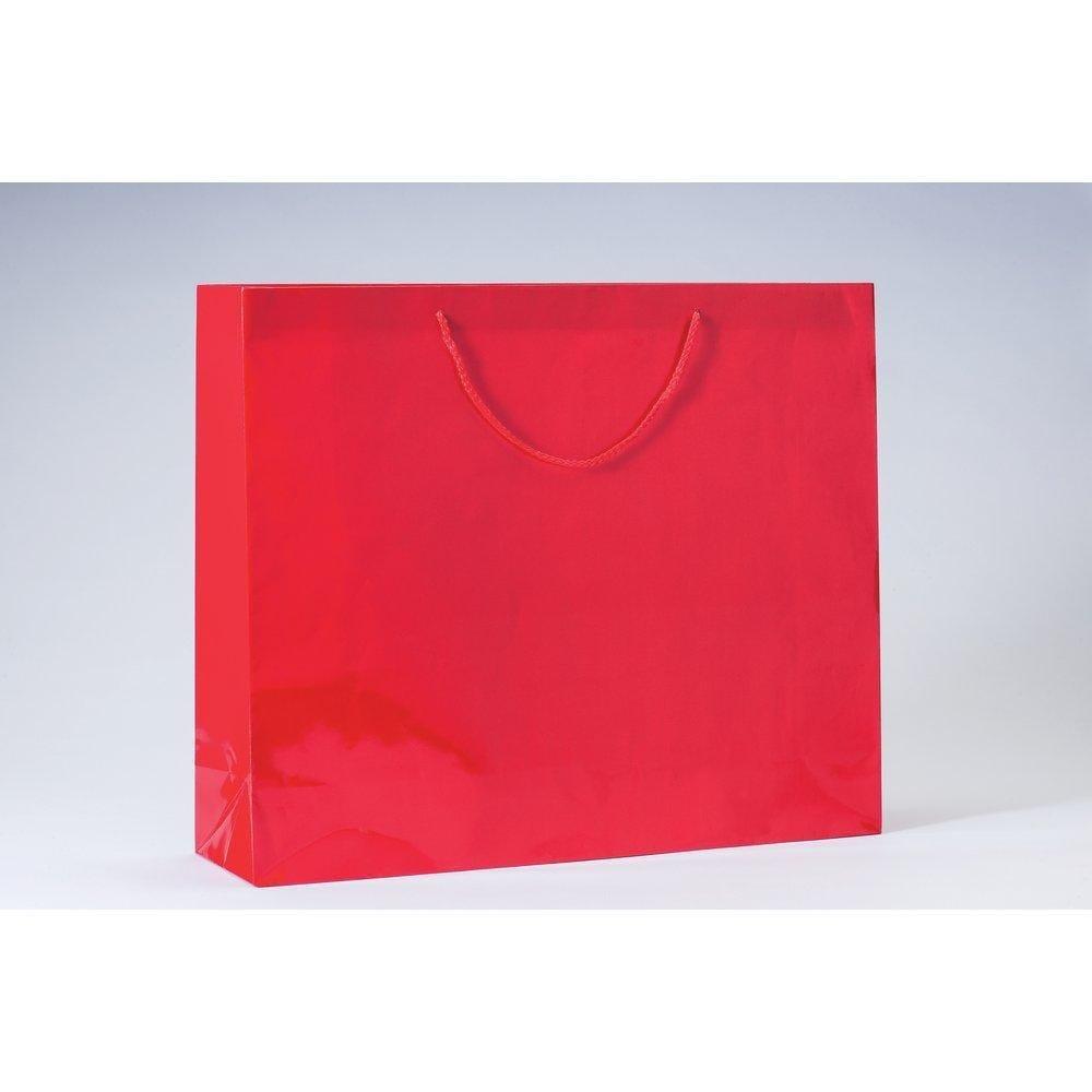 Sac Luxe pelliculé rouge L53 x P14 x H44cm par 12 (photo)