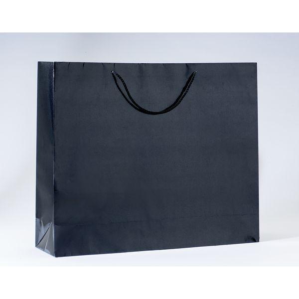 Sac Luxe pelliculé noir L53 x P14 x H44cm par 12 (photo)