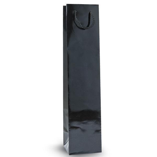 Sac bouteille luxe pelliculé noir L9xP9xH40cm - par 12