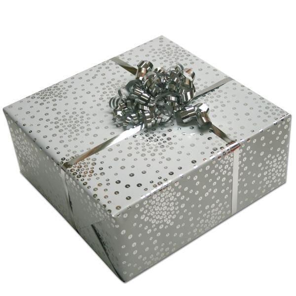 Papier cadeau Sequins blancs 0.70x50 m