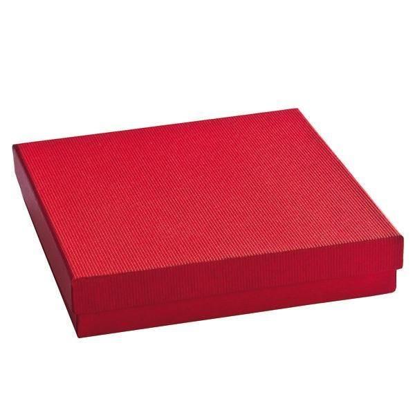 Boîte cadeau rouge L15xP15xH4cm - par 12