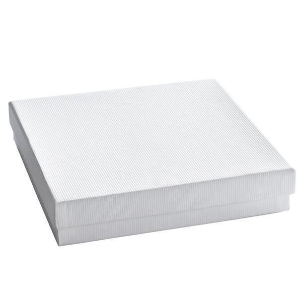 Boîte cadeau blanche L15xL15xH4cm - par 12