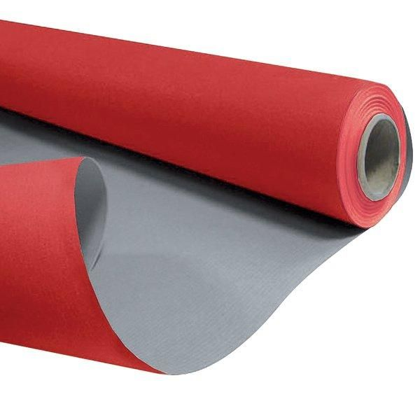 Papier kraft bicolore rouge et gris 0,80 x 40m (photo)