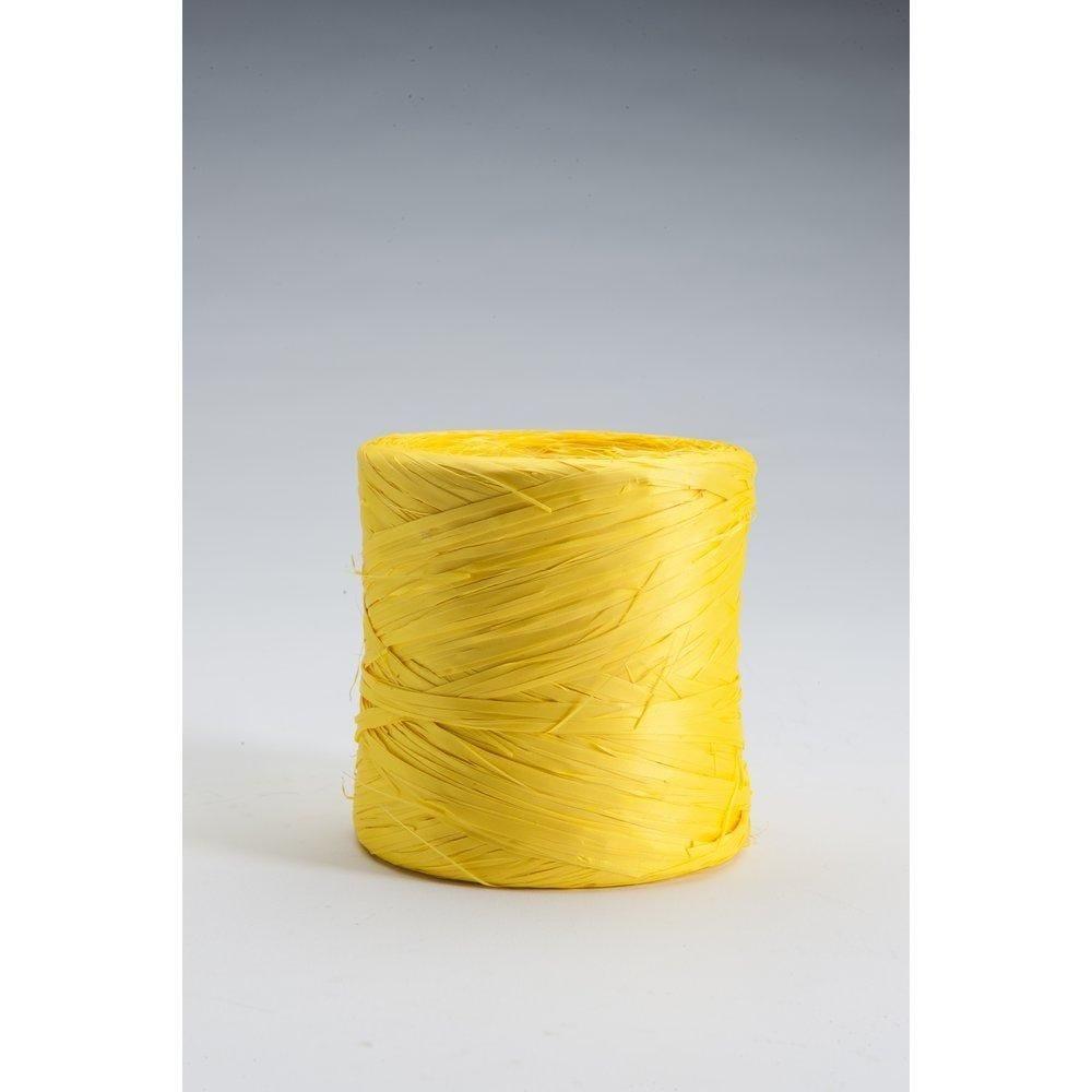 Bolduc raphia fluo jaune 200m (photo)