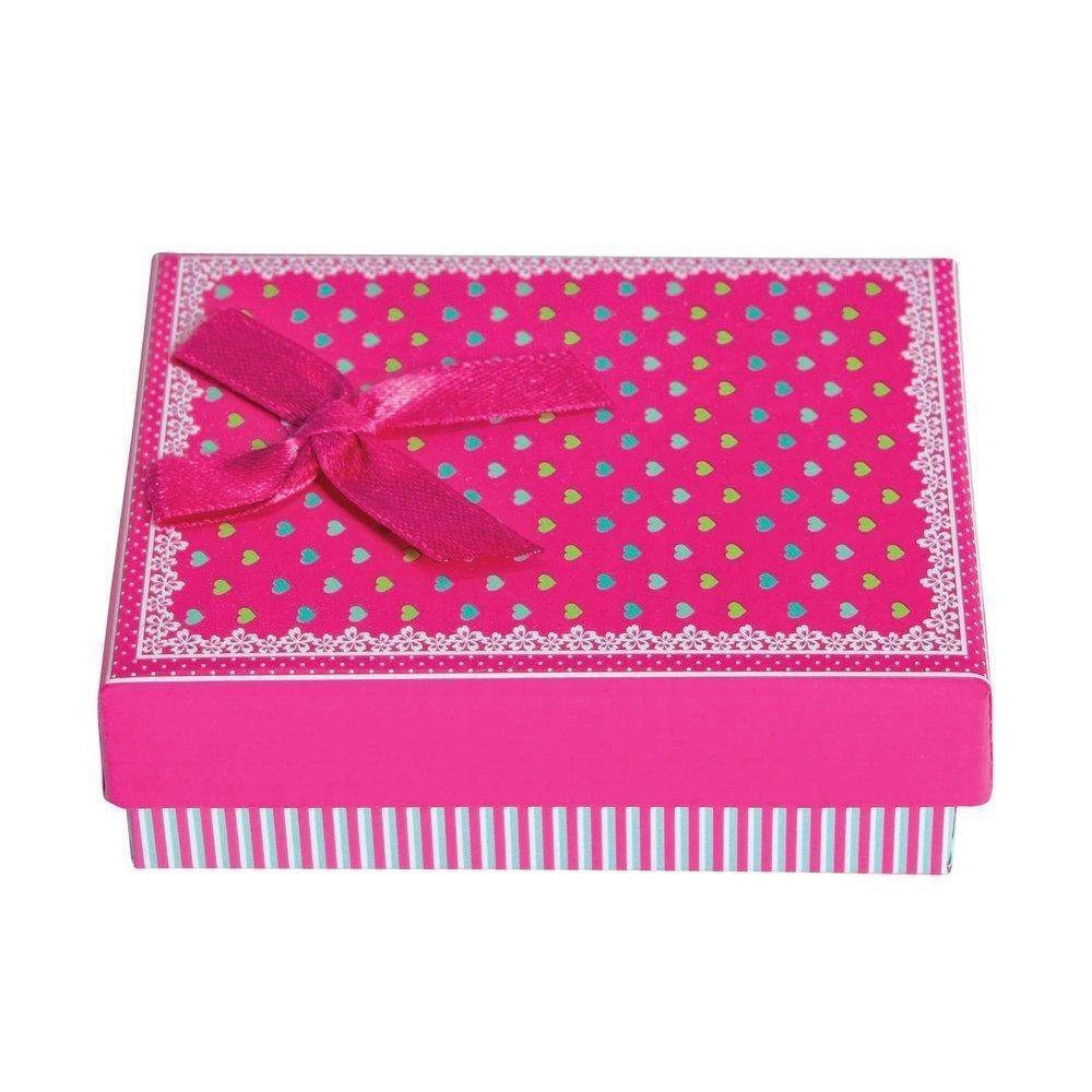 Boite cadeau rose pour bracelet avec calage L7xP9xH3cm - par 12