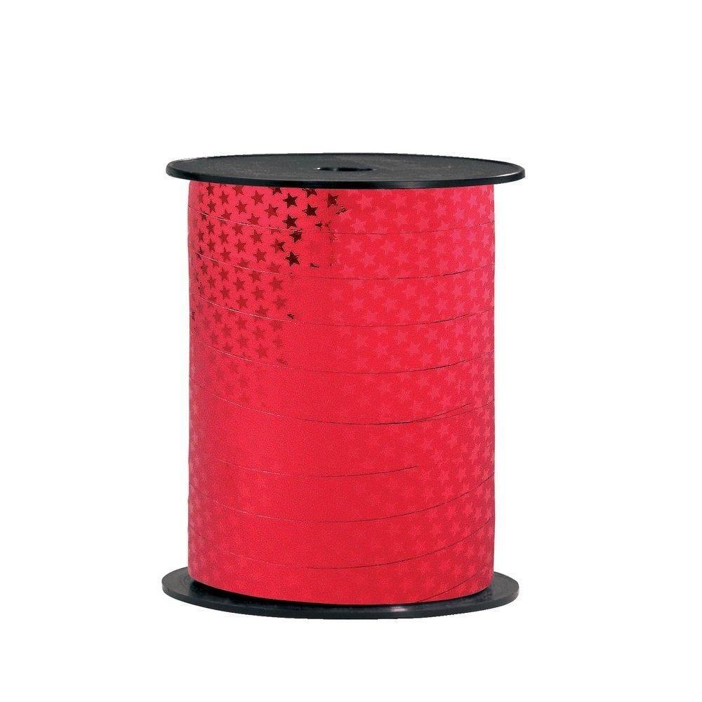 Bolduc étoiles rouge 10mm x 250m