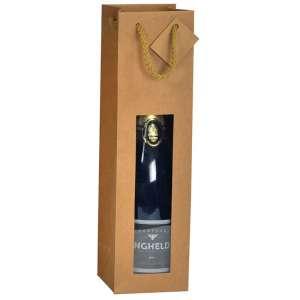 Sac bouteille magnum kraft avec étiquette L12 x P11,4 x H44 cm par 10 (photo)