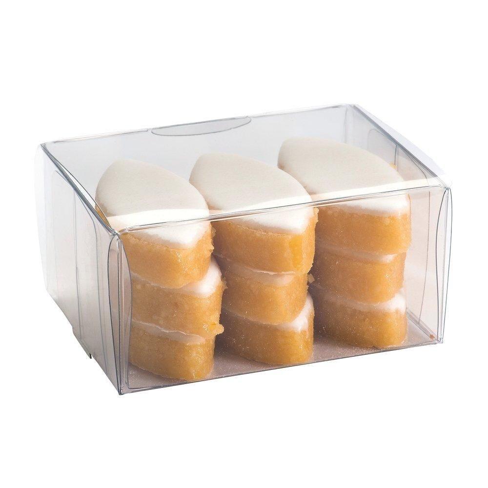 Boîte confiserie rectangulaire transparente 8x6x3cm - par 10 (photo)