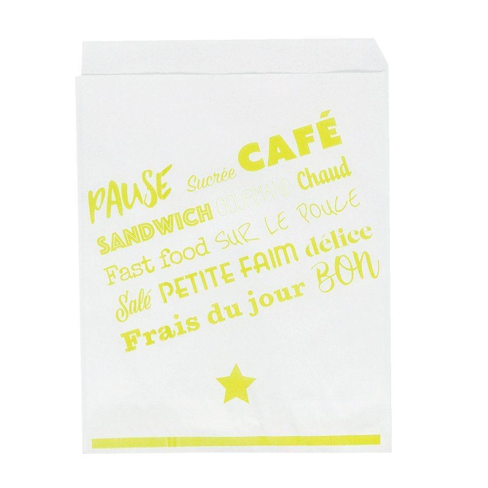 Sacs crêpes 16x20cm ingraissable blanc x 1000 (photo)