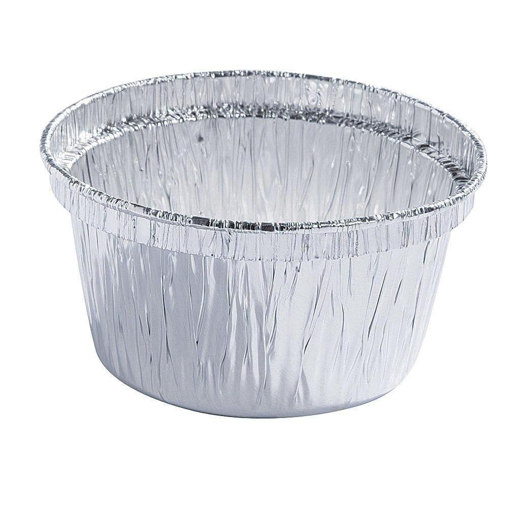Godet  aluminium 90cc Ø 7.5 x 4cm paquet de 100 (photo)