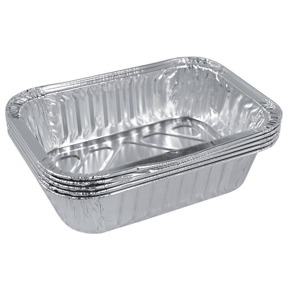 Plats gastronormes aluminium 32.2x26.2x4cm - 2625cc - paquet de 50 (photo)