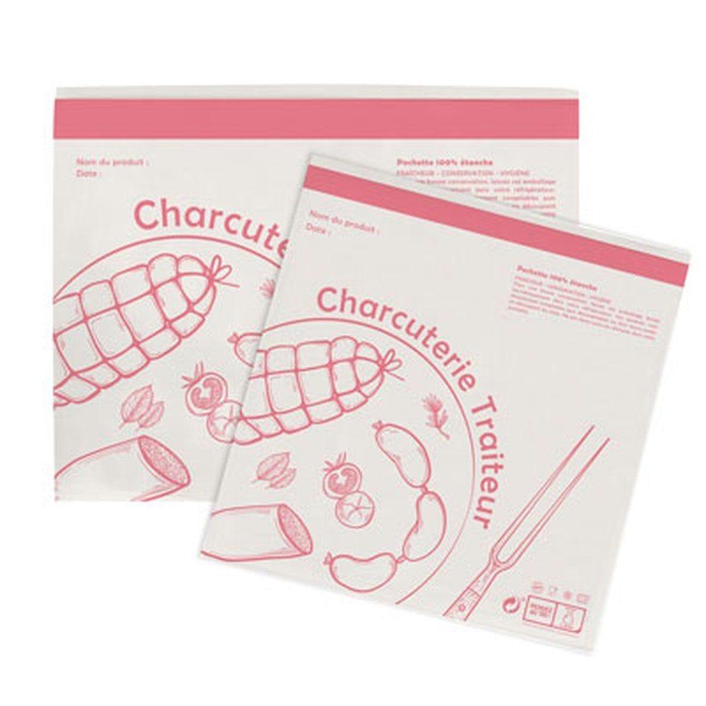 Pochettes adhésives charcuterie 25x25cm - paquet de 1000 (photo)