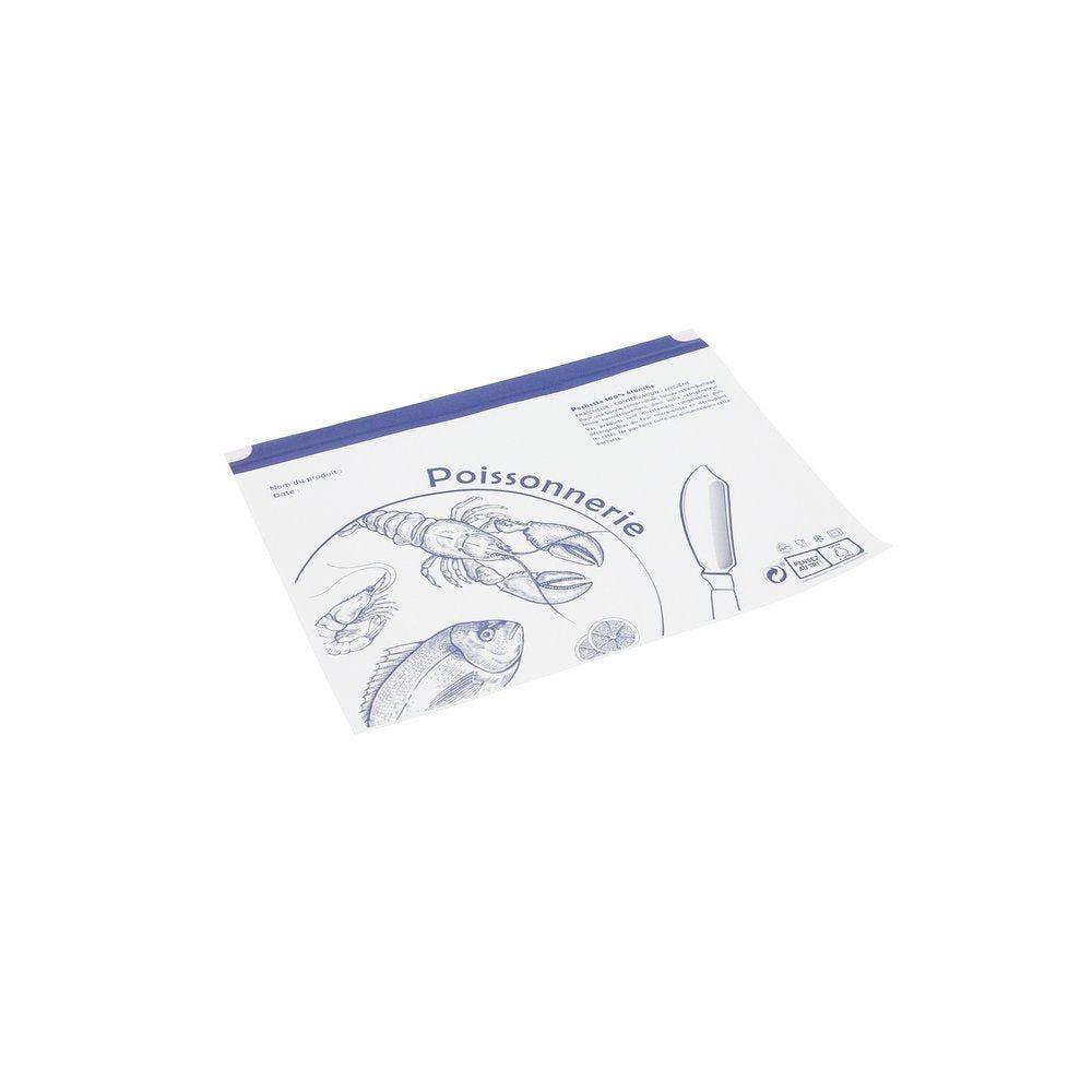 Pochettes adhésives poisson 16x25cm - paquet de 1000 (photo)