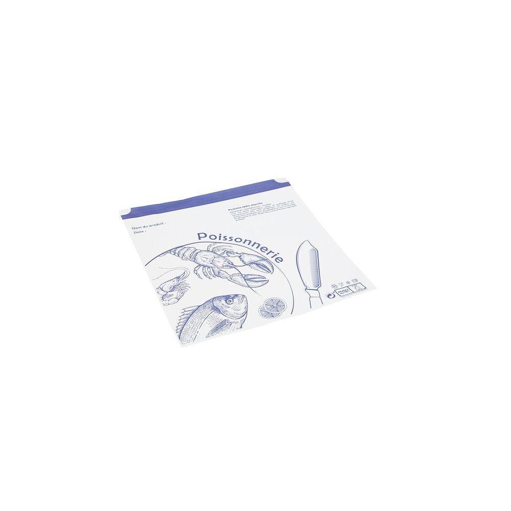 Pochettes adhésives poisson 25x25cm - paquet de 1000 (photo)