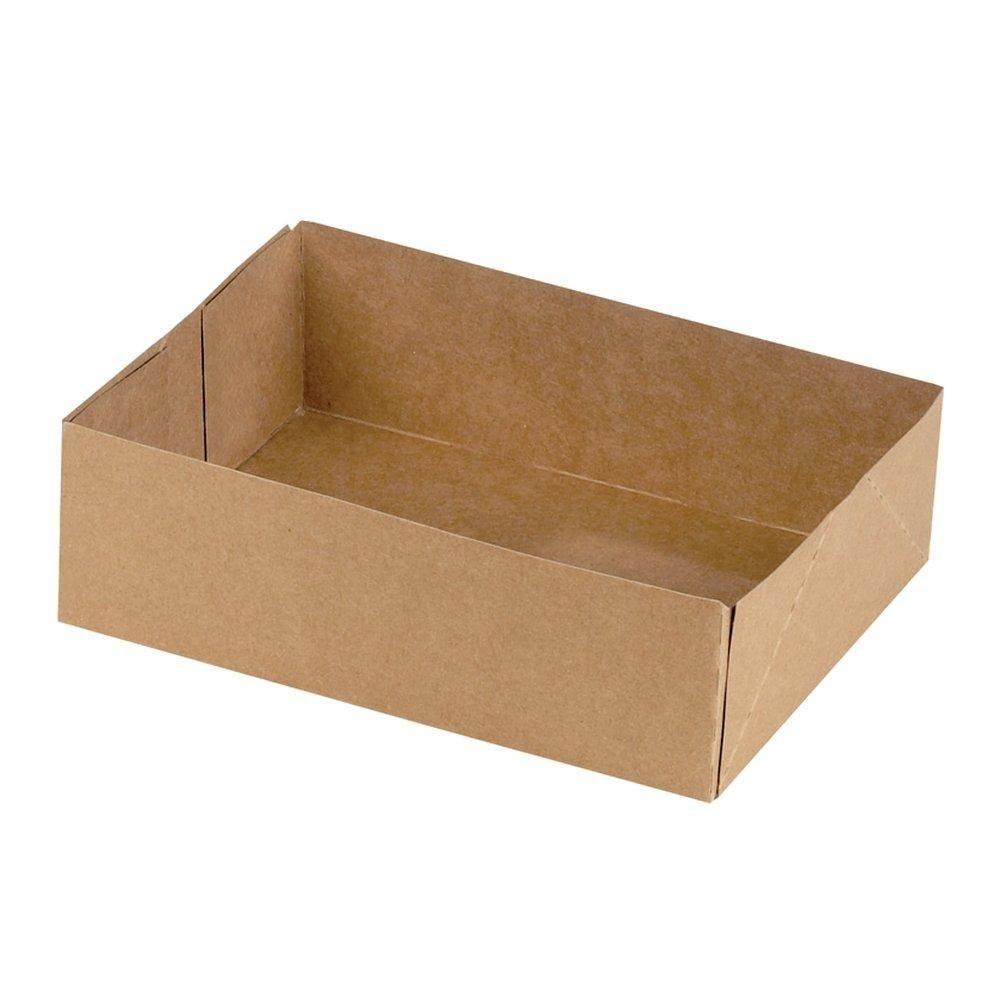 Boîte patissière kraft sans couvercle 16x12x5cm par 150 (photo)