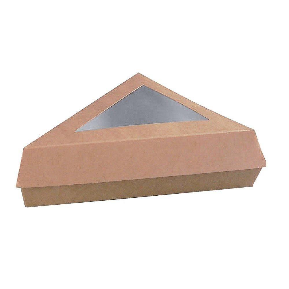 Boîte triangle brune à fenêtre - paquet de 50 (photo)