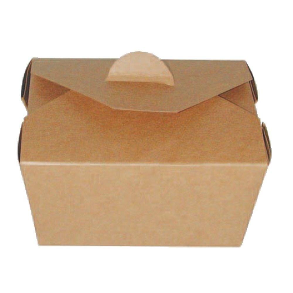 Boite carton brun micro-ondable 650ml - paquet de 25 (photo)