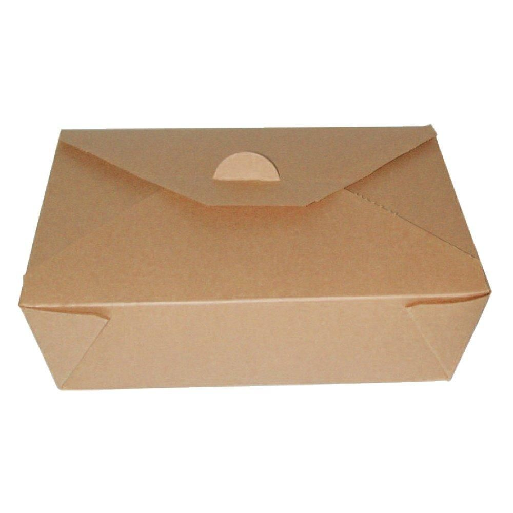 Boite carton brun micro-ondable 1000 ml - paquet de 25 (photo)