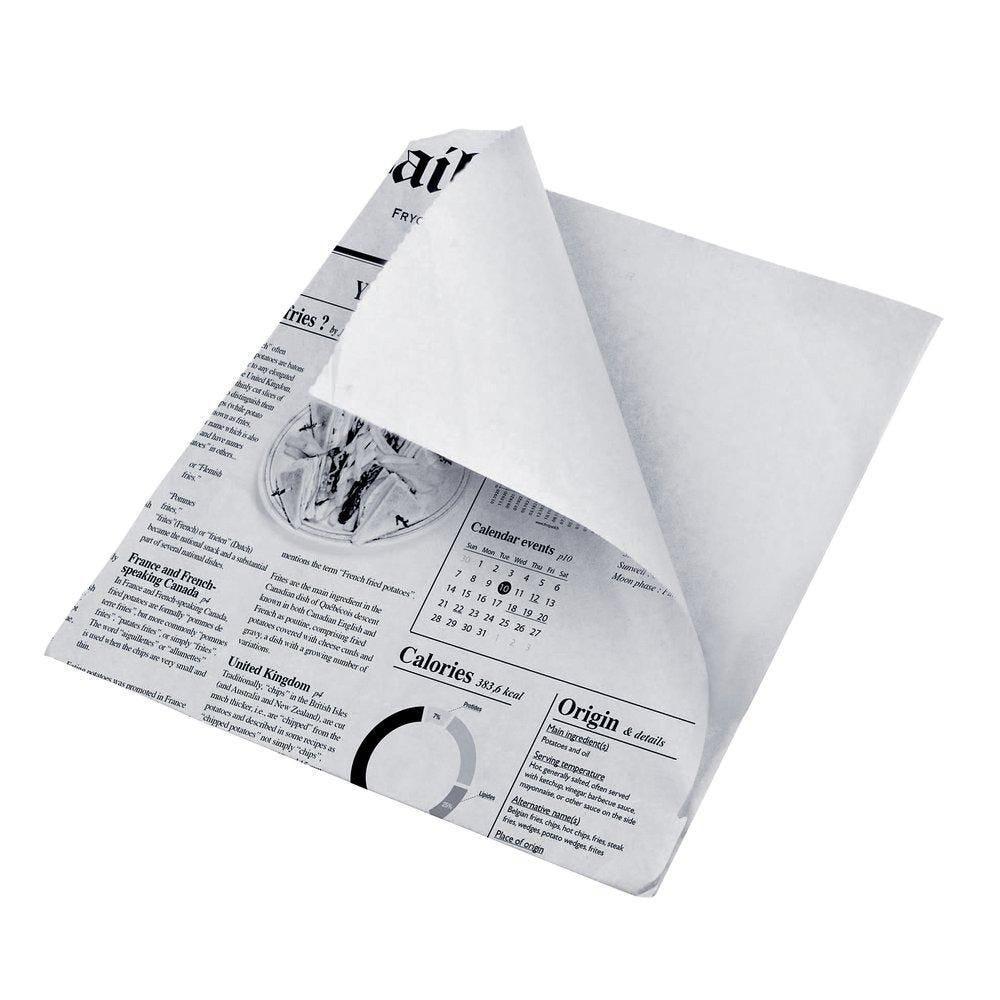 Sachet ingraissable impression journal 13x13cm - paquet de 1000 (photo)