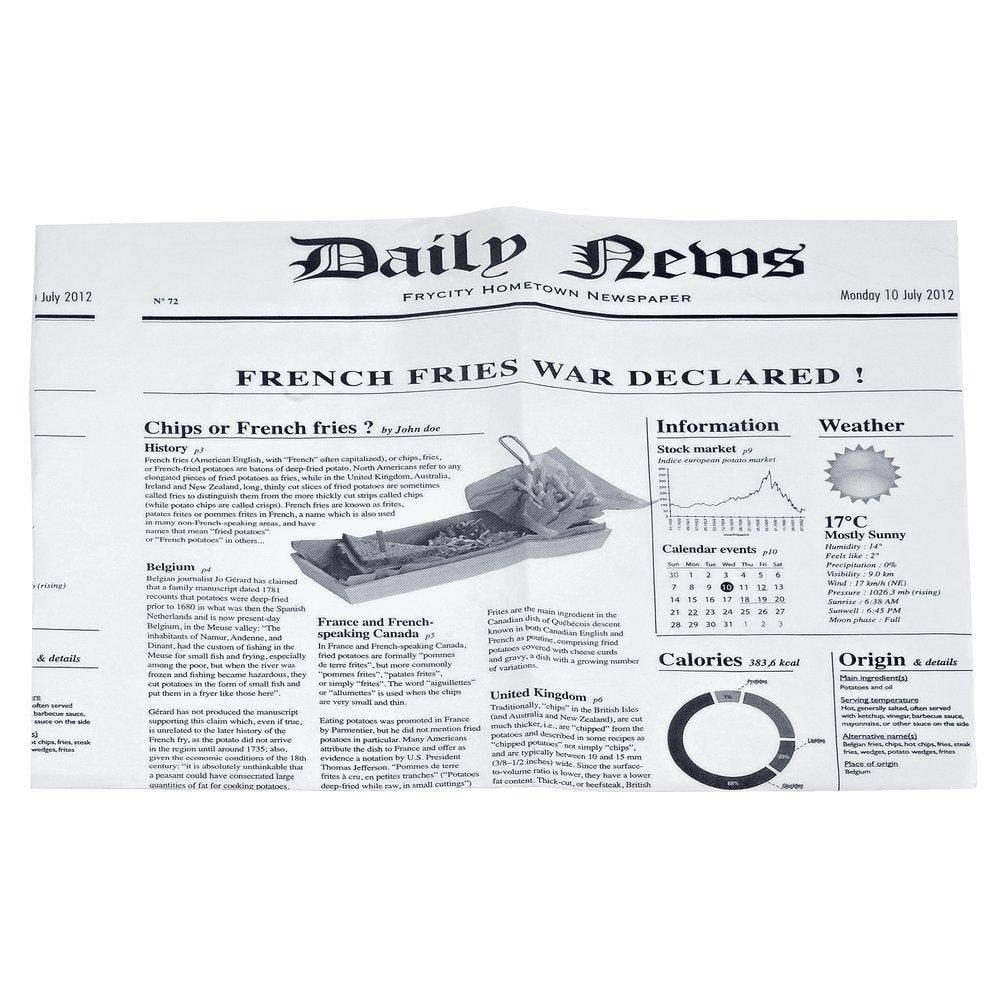 Feuille papier ingraissable impression journal 27x35cm - 2 paquets de 500 (photo)