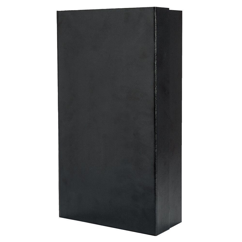 Boîte 2 bouteilles noire aimantée à monter 20x9.5x36cm (photo)