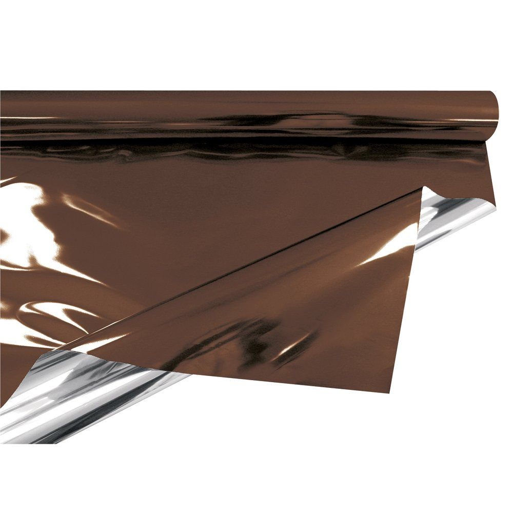 Film polypro métal chocolat uni 0.70x50m (photo)