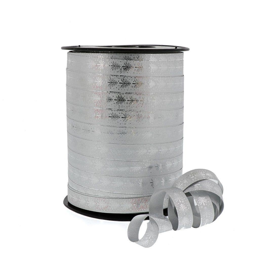 Bolduc argent 'Sapins' 10mm x 250M (photo)