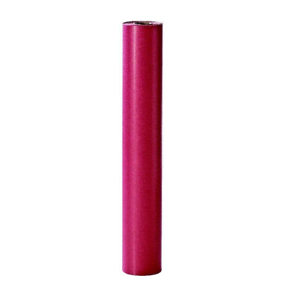 Papier cadeau kraft rouge uni en 0,70x200M (photo)