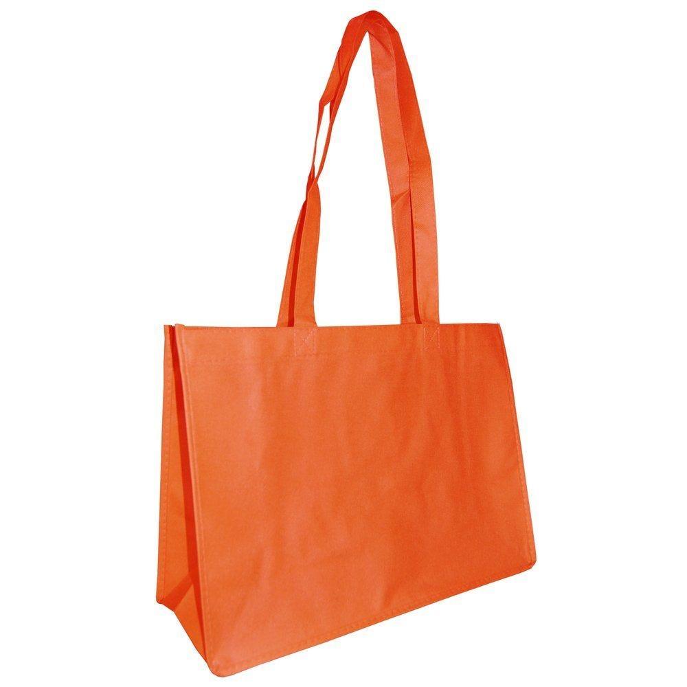 Sac PP non tissé orange en 40+15x30cm - par 20