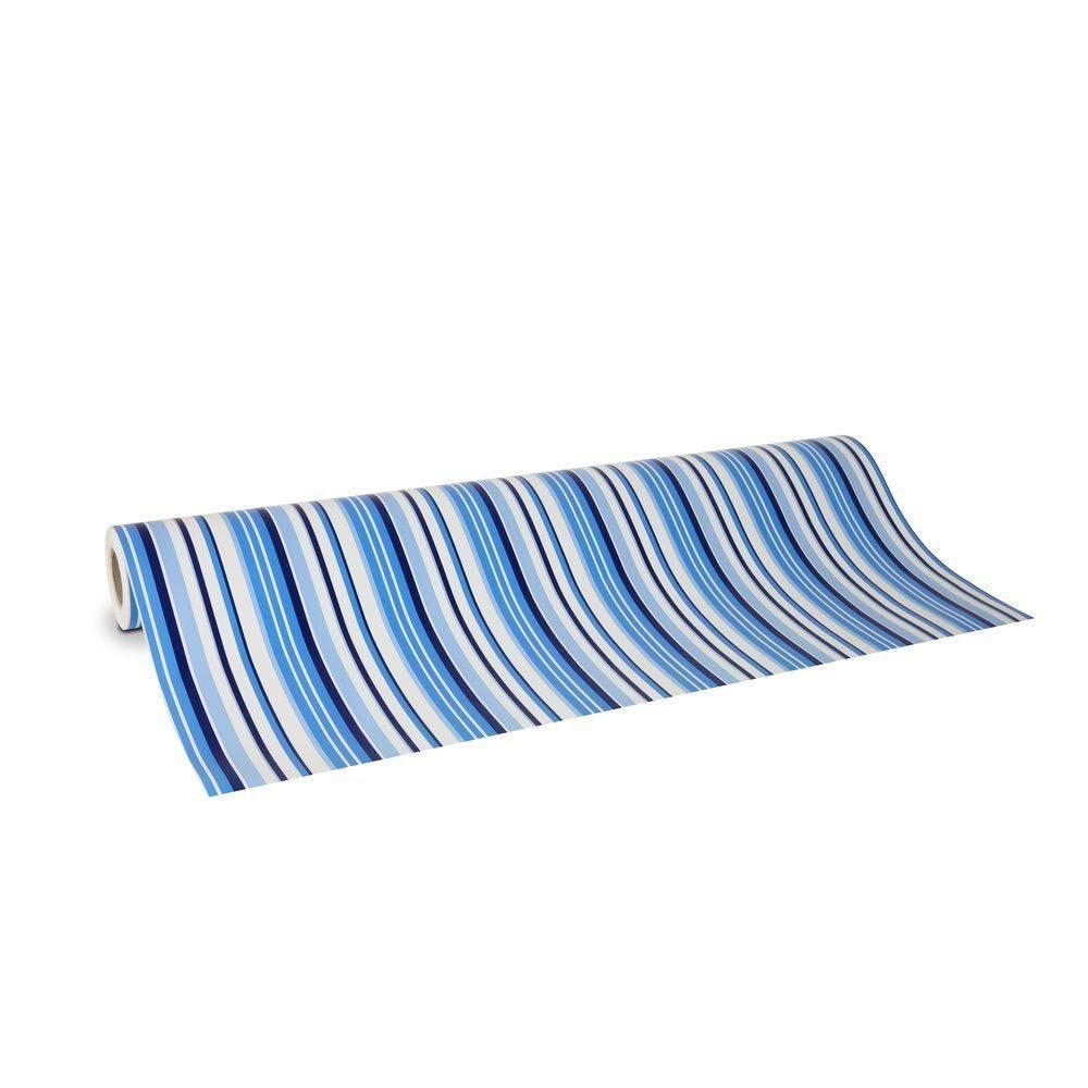 Papier cadeau rayures mer en L.0.70xL.50m (photo)
