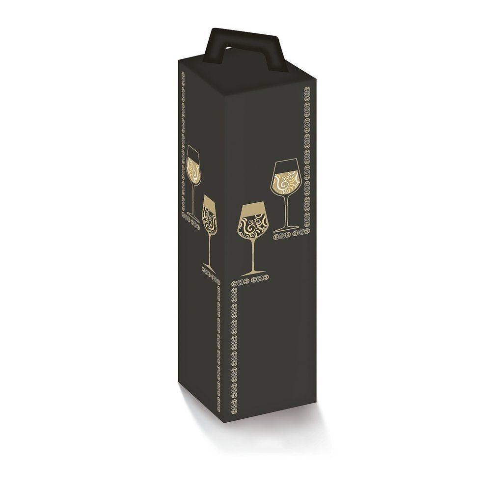 Boîte 1 bouteille 'Elegance' 9x9x33cm - paquet de 10 (photo)