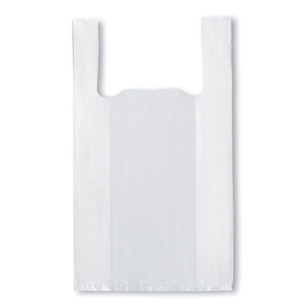 Sac bretelles réutilisables blancs 21x11x35cm PEBD 50µ - par 1000 (photo)
