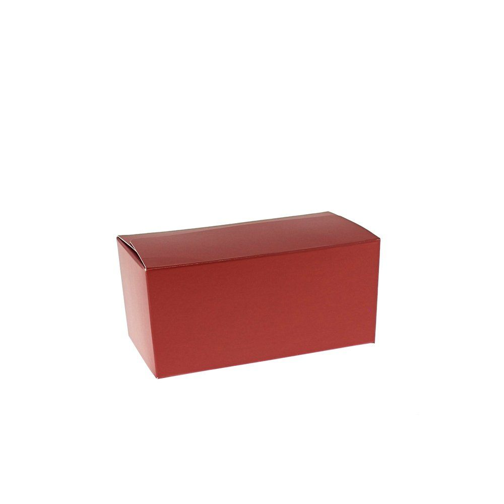 Ballotin rouge intérieur or 375g 13x7x6,3cm - par 50 (photo)
