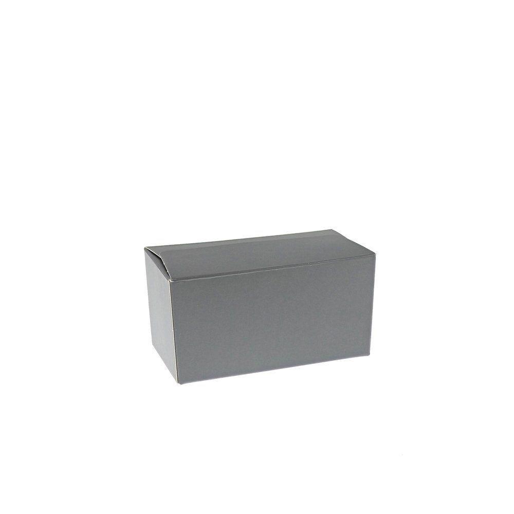 Ballotin gris intérieur argent 250g 12x6x6cm - par 50 (photo)