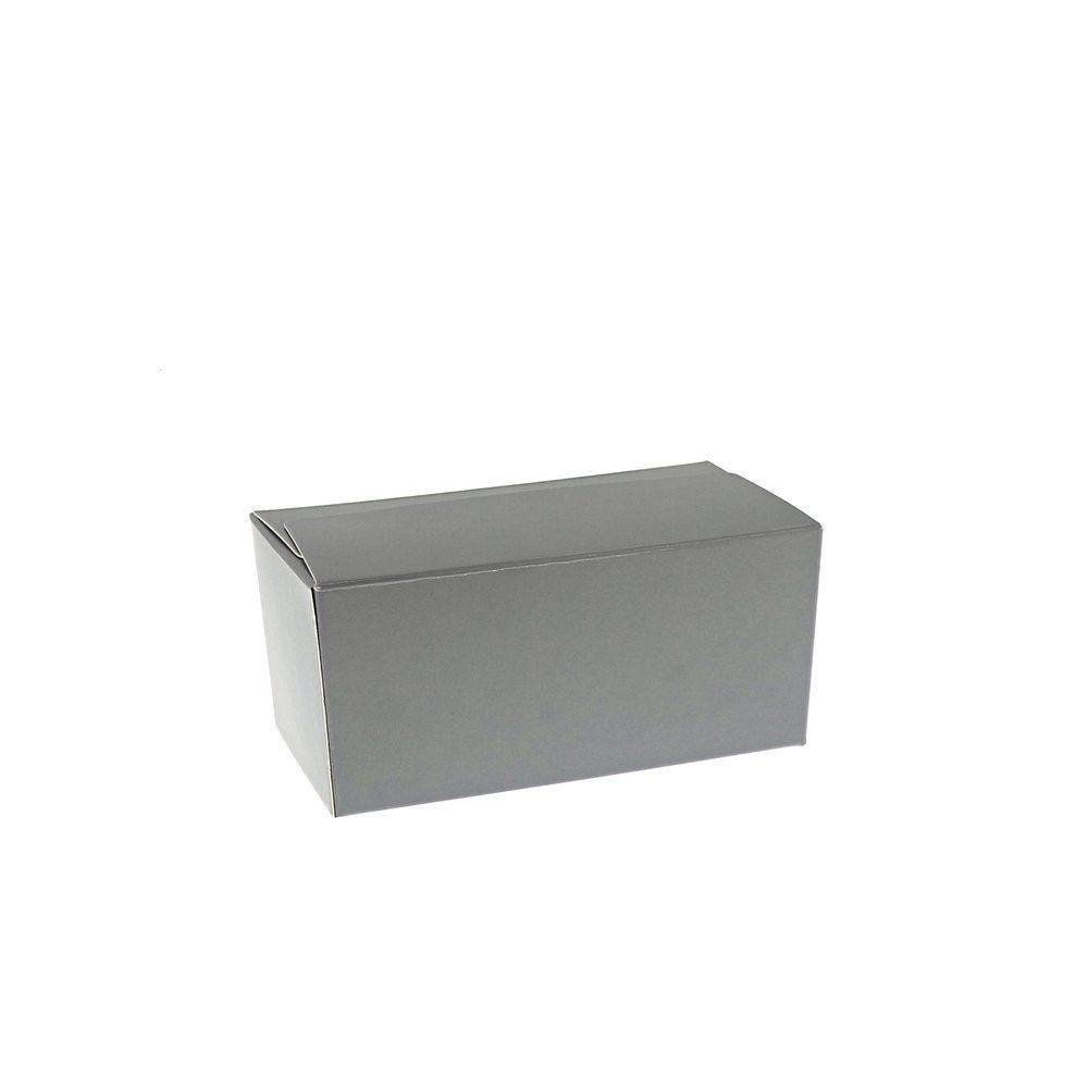 Ballotin gris intérieur argent 375g - par 50 (photo)