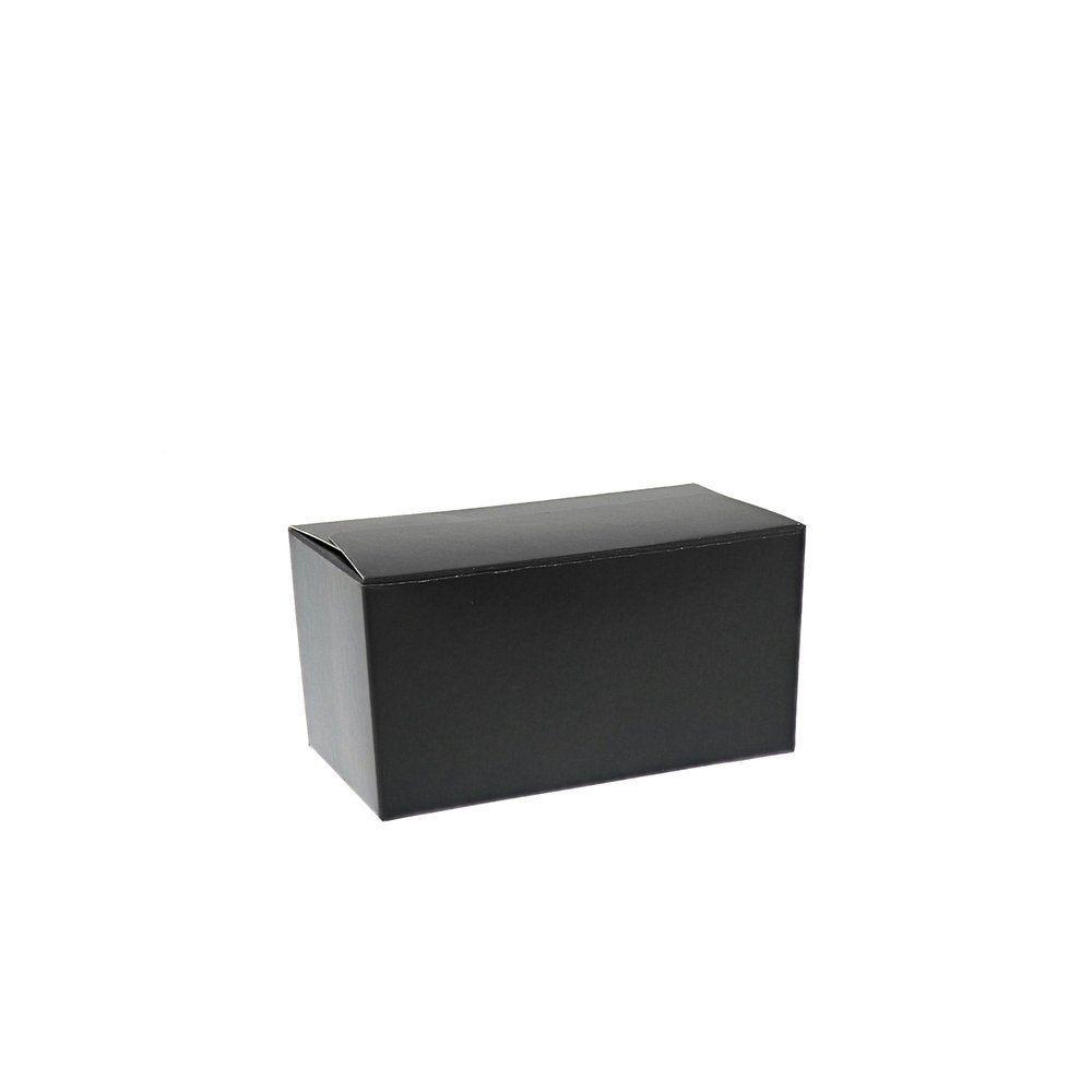 Ballotin noir intérieur or 250g 12x6x6cm - par 50 (photo)