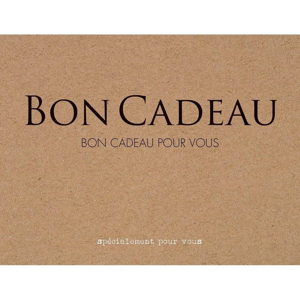 Bon cadeau kraft brun et noir avec enveloppe et étiquette par 6 (photo)