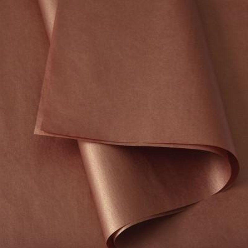 Papier de soie cuivre metallisé en 50x75cm - rame de100 feuilles (photo)