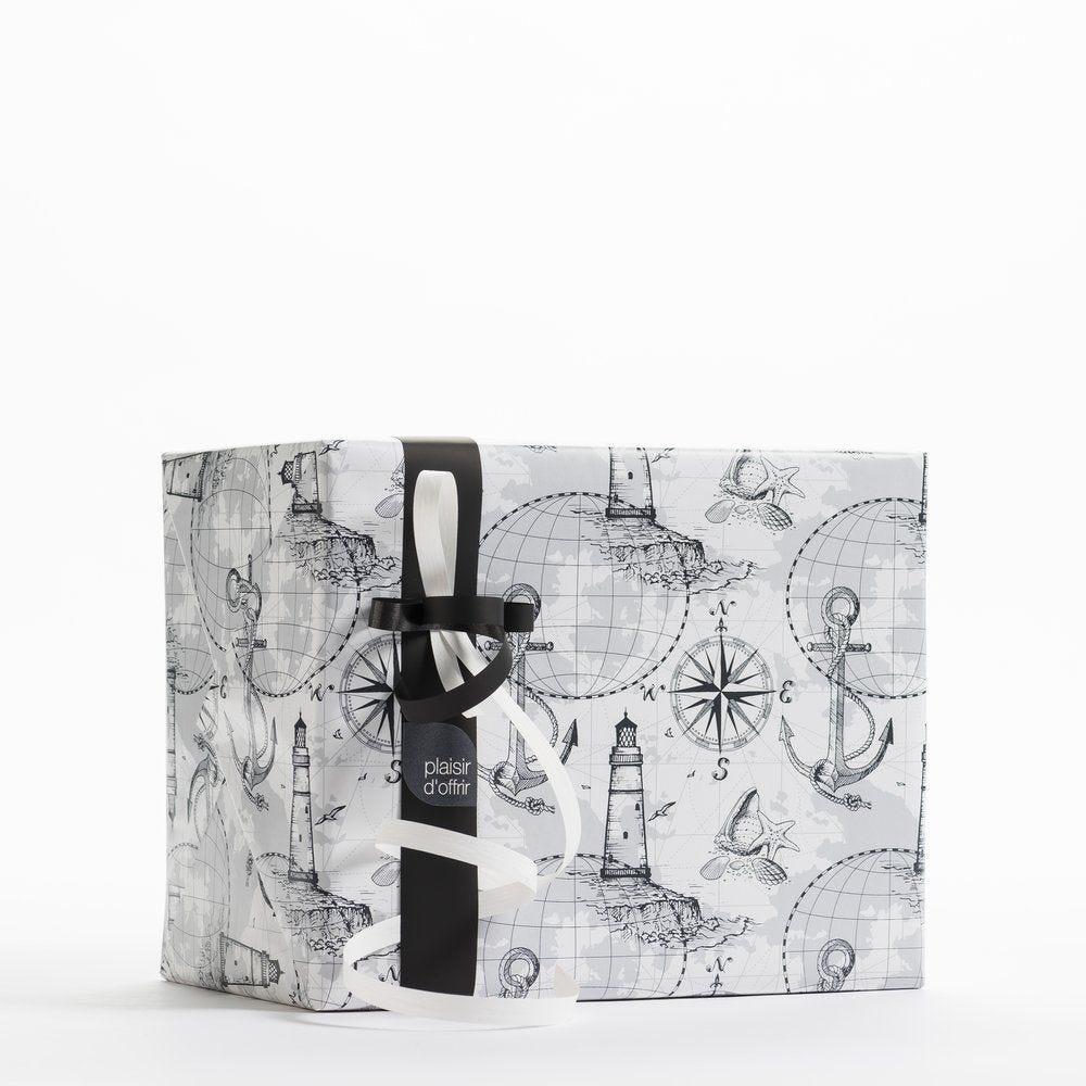 Papier cadeau Voyage gris en 0.70 x 50m (photo)