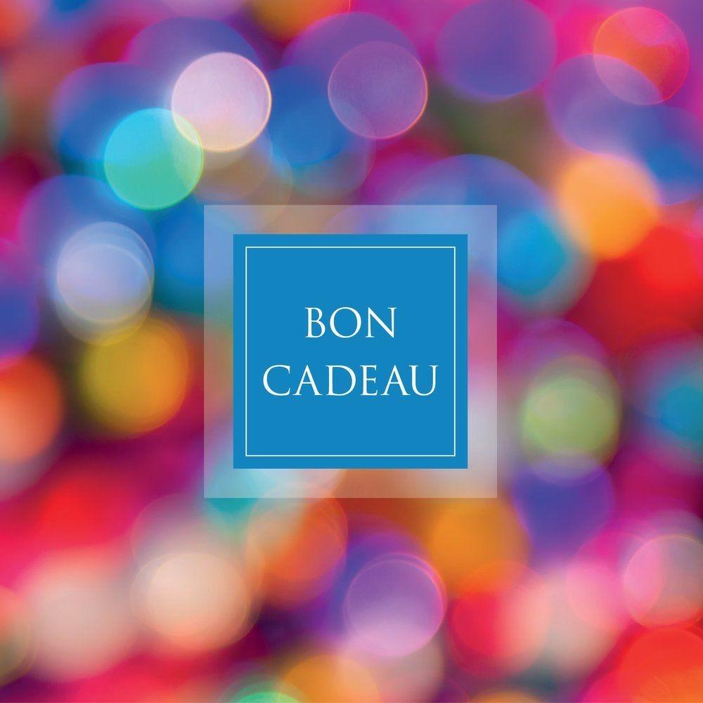 Bon cadeau multicolore 12x12cm - par 12