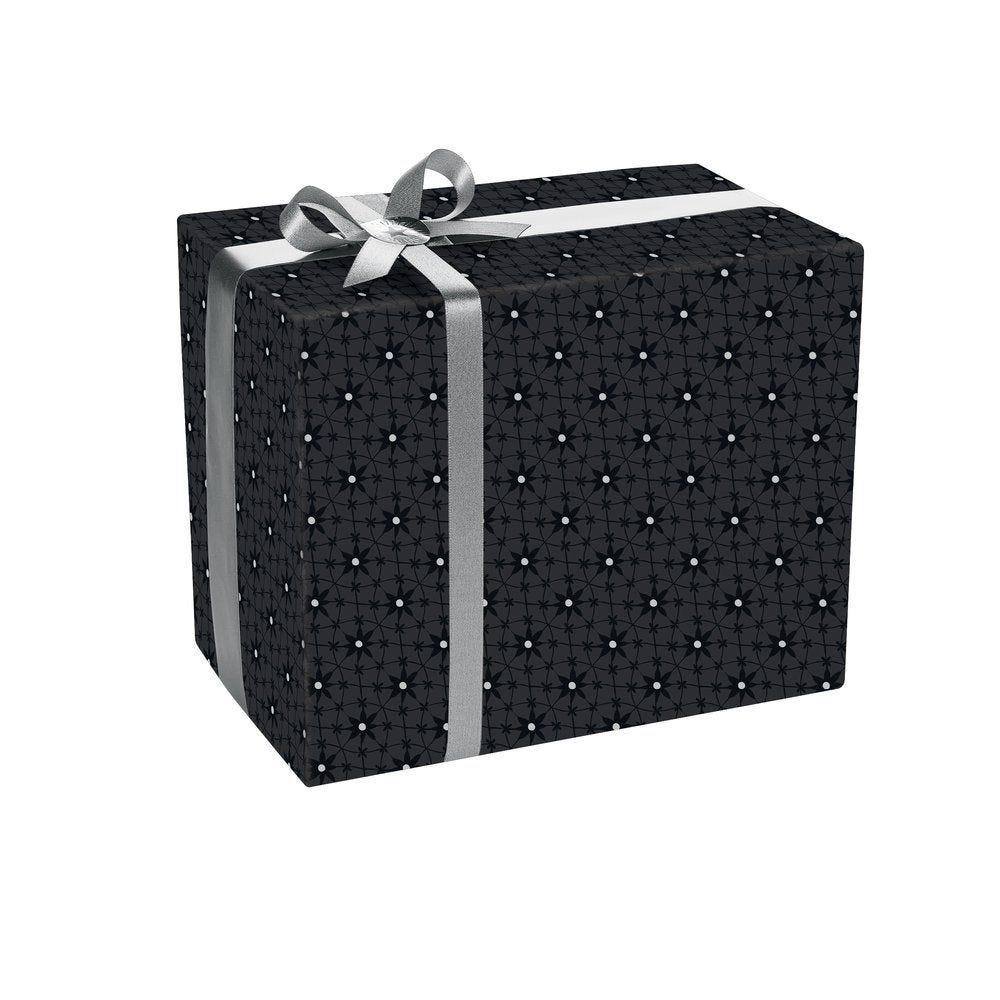 Papier cadeau Edelweiss noir et argent en 0.70x50M (photo)