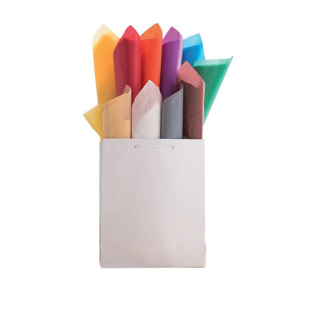 Papier de soie panaché 10 couleurs en 50x75cm - rame de 480 feuilles (photo)