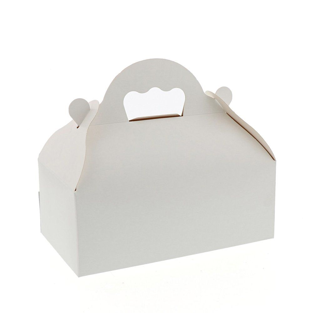 Caissette patissière à poignées blanche n°10 par 50 (photo)