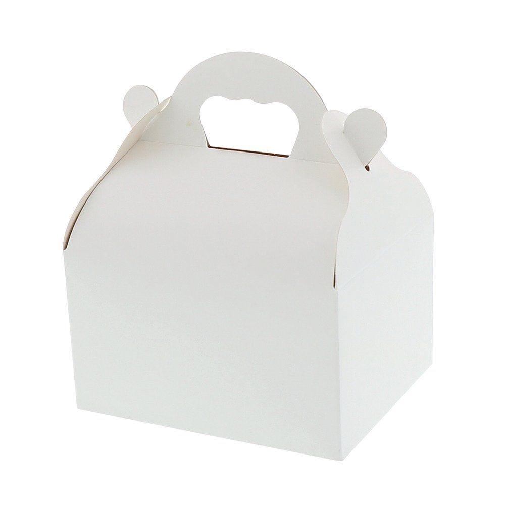 Caissette patissière à poignées blanche n°7 par 50 (photo)