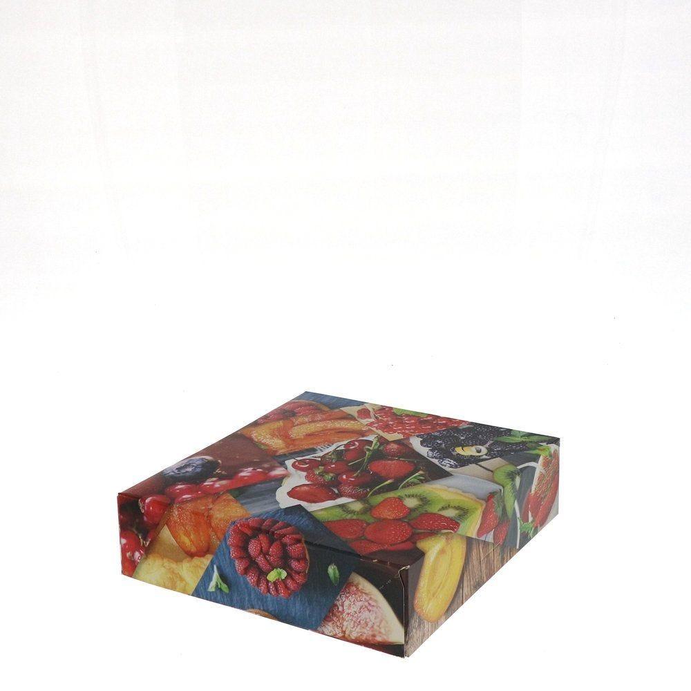 Boîte patissière Polaroid multicolore 18x18+5cm - par 50