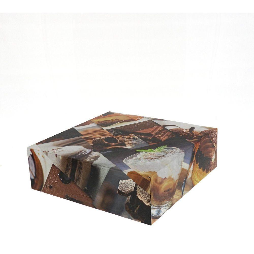 Boîte patissière Polaroid multicolore 22x22+8cm - par 50