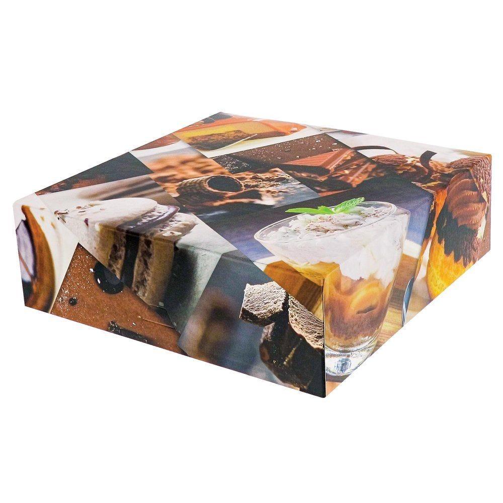 Boîte patissière Polaroid multicolore 25x25+8cm - par 50