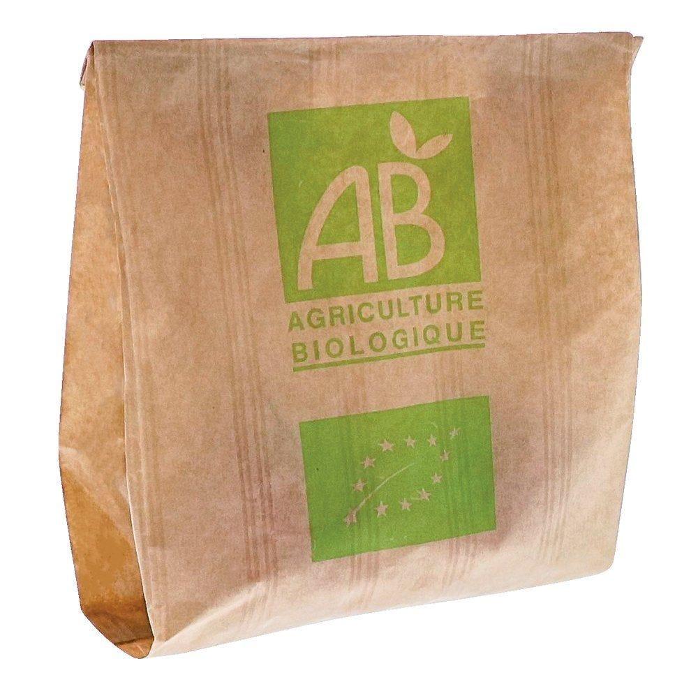 Sac fruits & légumes AB 500 gr kraft brun 19+9x21 cm par 1000 (photo)
